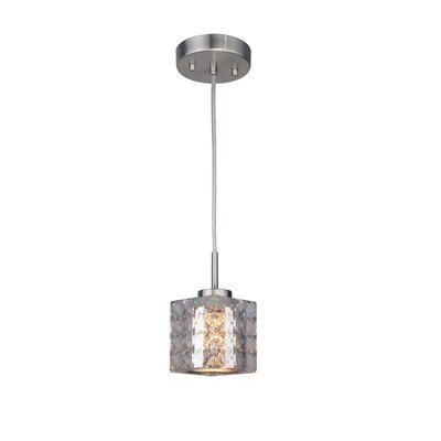 Sadowski 1-Light Steel Mini Pendant Finish: Satin Nickel