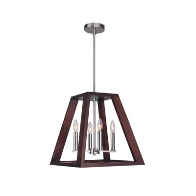 Cedric 4-Light Foyer Pendant Finish: Satin Nickel
