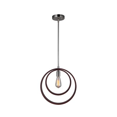 Antoine 1-Light Geometric Pendant Finish: Satin Nickel