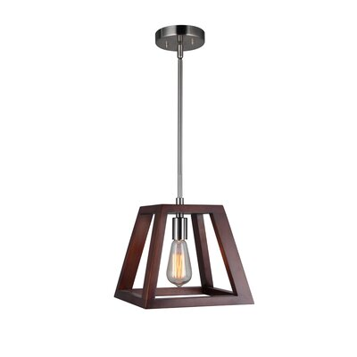 Cedric Modern 1-Light Mini Pendant Finish: Satin Nickel