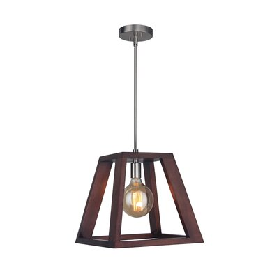 Cedric 1-Light Mini Pendant Finish: Satin Nickel