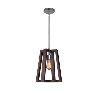 Juergens 1-Light Mini Pendant Finish: Satin Nickel