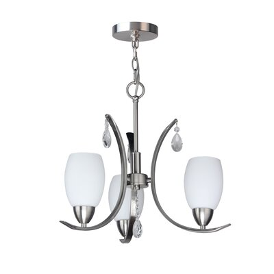 Berenice 3-Light Mini Chandelier Finish: Satin Nickel