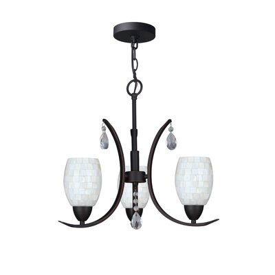 Berenice Modern 3-Light Mini Chandelier Finish: Bronze