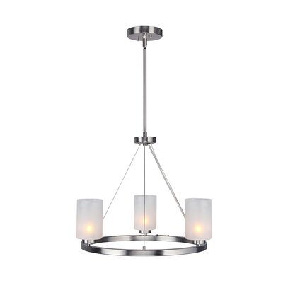 Sadowski Opal 3-Light Mini Chandelier