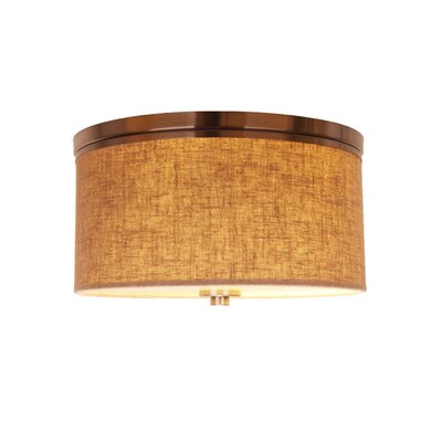 Juhasz 3-Light Drum Flush Mount Shade Color: Beige