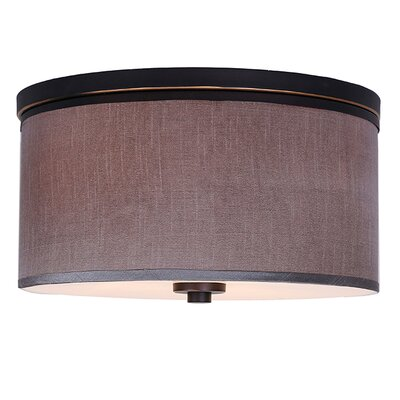 Juhasz 3-Light Metal Flush Mount Shade Color: Gray