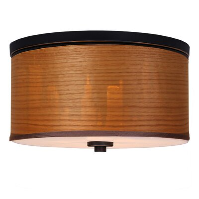 Juhasz Contemporary 3-Light Flush Mount Shade Color: Brulee
