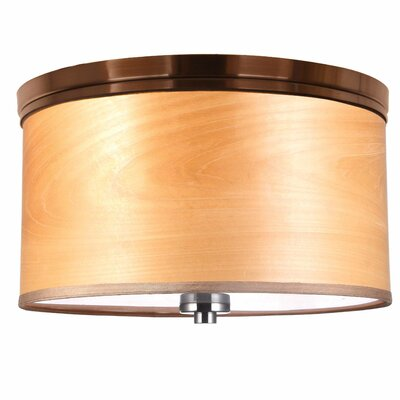 Juhasz Contemporary 3-Light Metal Flush Mount Shade Color: Nougat