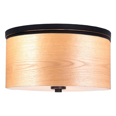 Juhasz Contemporary 3-Light Drum Metal Flush Mount