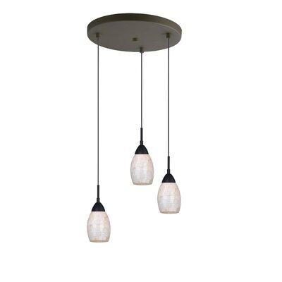 Murphy Pearl 3-Light Cluster Pendant Finish: Bronze