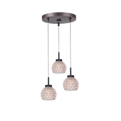Sadowski 3-Light Bell Cluster Pendant Finish: Metallic Bronze