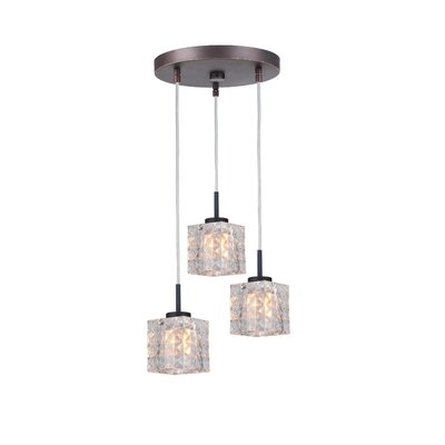 Sadowski 3-Light Drum Cluster Pendant Finish: Metallic Bronze