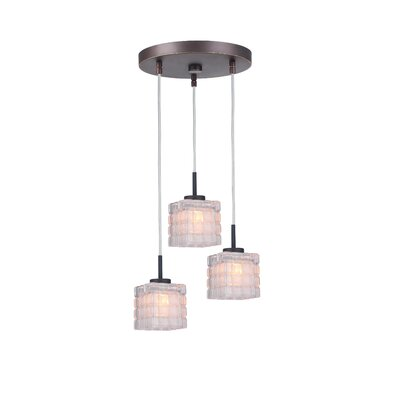 Sadowski Contemporary 3-Light Cluster Pendant Finish: Metallic Bronze