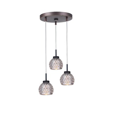Sadowski Modern 3-Light Cluster Pendant Finish: Metallic Bronze