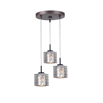 Sadowski 3-Light Cluster Pendant Finish: Metallic Bronze