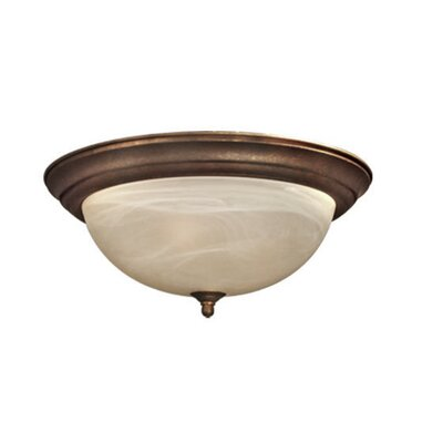 Anson 2-Light Flush Mount Finish: Marbled Bronze