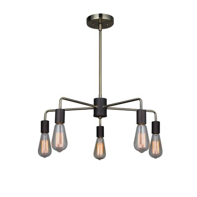 Ethan 5-Light Sputnik Chandelier Finish: Brushed Brass/Black