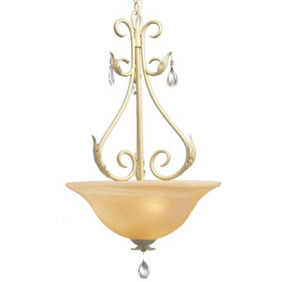 Mcglothlin 3-Light Bowl Pendant
