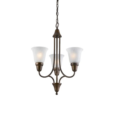 Willhite 3-Light Mini Chandelier Color: Metallic Bronze