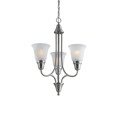 Willhite 3-Light Mini Chandelier Finish: Satin Nickel