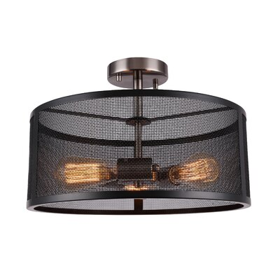 Shanda 3-Light Semi Flush Mount