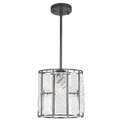 Coldiron 1-Light Drum Pendant