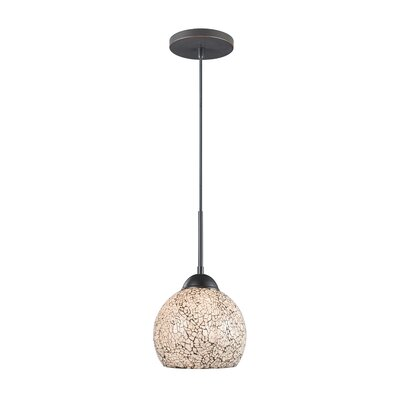 1-Light Mini Pendant Finish: Metallic Bronze, Shade Color: White