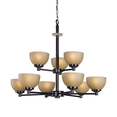 Ajo 9-Light Shaded Chandelier