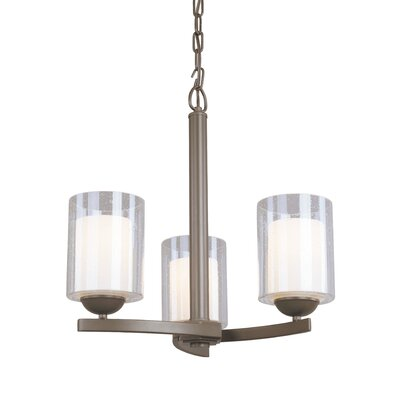 Saver 3-Light Candle-Style Chandelier Finish: Bronze