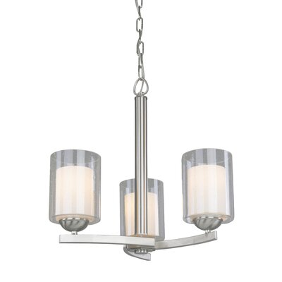 Saver 3-Light Candle-Style Chandelier Finish: Satin Nickel