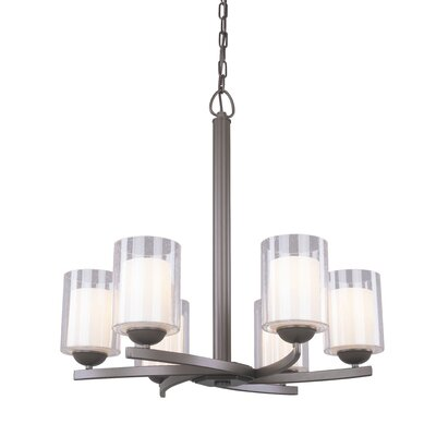 Saver 6-Light Shaded Chandelier Finish: Bronze