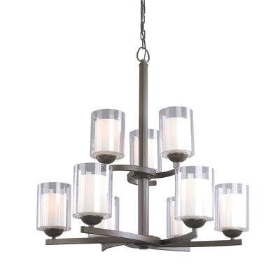 Cosmo 9-Light Shaded Chandelier Finish: Bronze