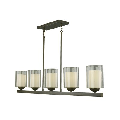 Cosmo 5-Light Kitchen Pendant Lighting Finish: Bronze