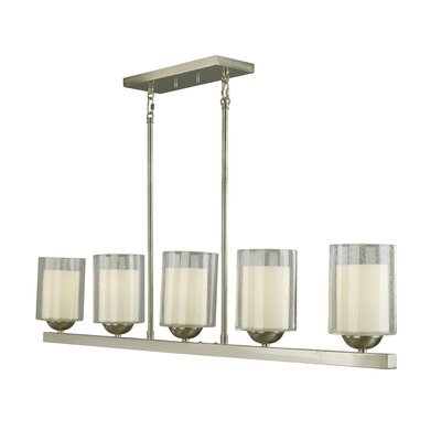 Cosmo 5-Light Kitchen Pendant Lighting Finish: Satin Nickel