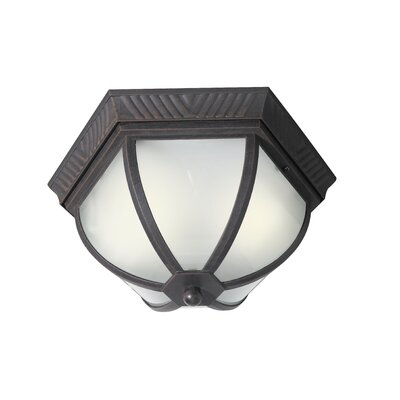 Glenwood 2-Light Flush Mount Finish: Powder Coat Rust