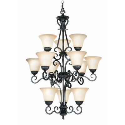 Williford 12-Light Shaded Chandelier