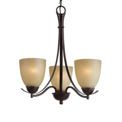 Kearney 3-Light Shaded Chandelier