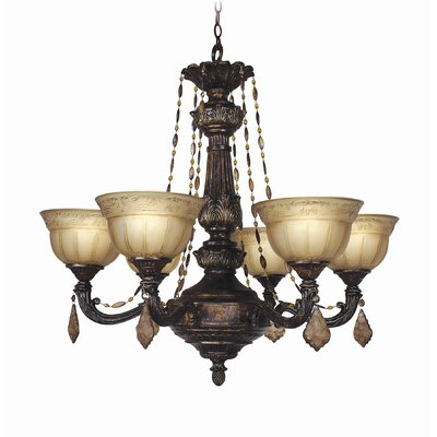 Lucerne 6-Light Shaded Chandelier