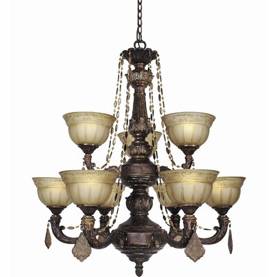 Lucerne 9-Light Shaded Chandelier