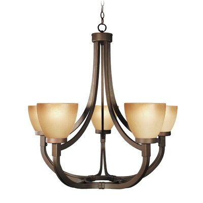 Wayman 5-Light Shaded Chandelier