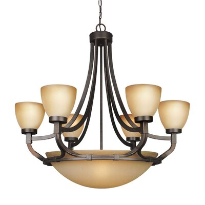 Wayman 9-Light Shaded Chandelier