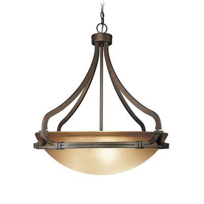Wayman 3-Light Inverted Pendant / Foyer Size: 26.5 H x 24.25 W