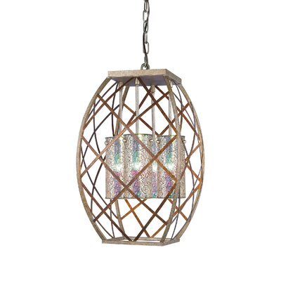 Braid 4-Light Foyer Pendant Shade Color: Iridescent