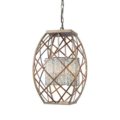 Braid 4-Light Foyer Pendant Shade Color: White