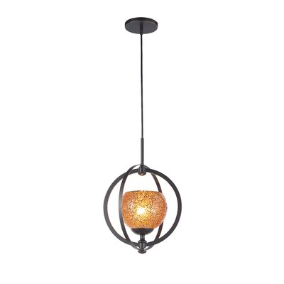 Cirque 1-Light Mid Foyer Pendant Shade Color: Amber