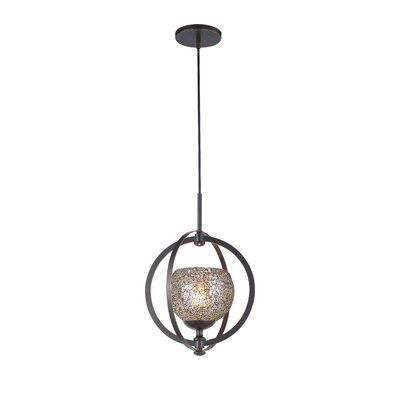 Cirque 1-Light Mid Foyer Pendant Shade Color: Mirror