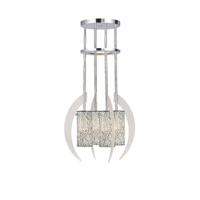 Crescent 4-Light Shaded Chandelier Shade Color: White