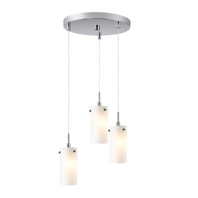 Cheyanna 3-Light Mini Pendant Cluster Finish: Satin Nickel