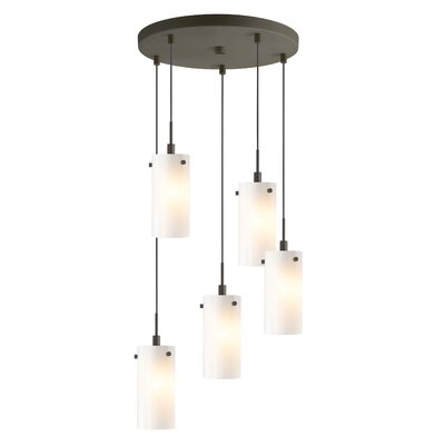 Cheyanna 5-Light Mini Pendant Cluster Finish: Metallic Bronze